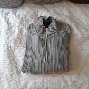 NWOT XL CALVIN KLEIN SWEATER ZIP UP